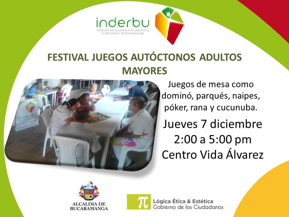 Festival De Juegos Autoctonos Para Adultos Mayores Noticias Inderbu
